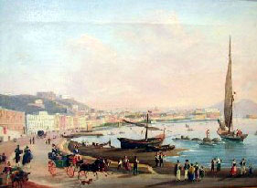 A view of Naples from Mergellina