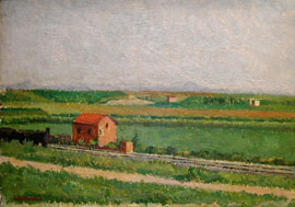 The train in latium landscape